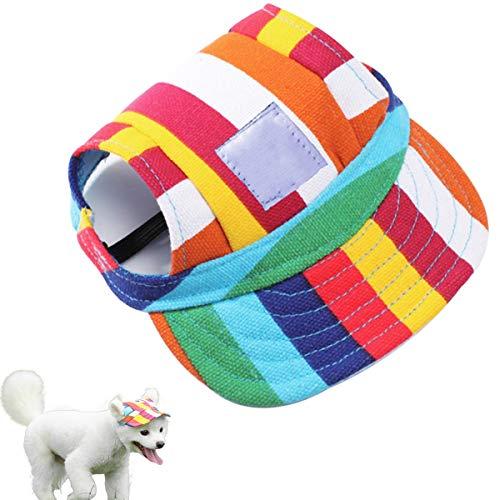 Petyoung Hund Hut- Pet Baseball Kappe/Hunde Sport Hut/Schirmmütze/Sommer Sonnenschutz Kappe mit Ohr...