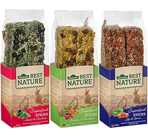 Dehner Best Nature Nagersnack, Superfood Stick-Mix 3 x 140 g (420 g)
