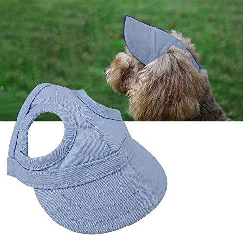 Baseballkappe für Haustiere, Outdoor, Katze, Hund, Sportkappe, verstellbar, gestreift, Sommer-Reisehut...