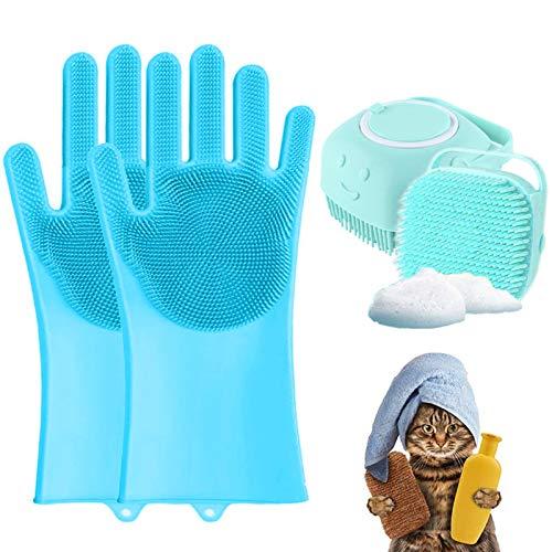 fulaide Zupfbürste für Hunde, Aufbewahrung, Shampoo, weiche Anti-Kratz-Waschbürste, Katzenbürste,...