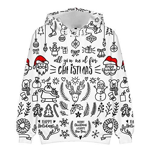 Mr.BaoLong&Miss.GO Herbst und Winter Herren Weihnachtspullover Paar Pullover Weihnachtssport Hoodie...