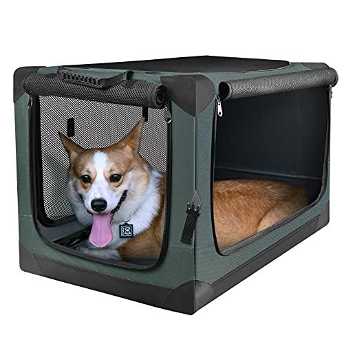 PUPPY KITTY Hundetransportbox Hundetasche Faltbare Transportbox Tragbare Autobox Haustiertragetasche...