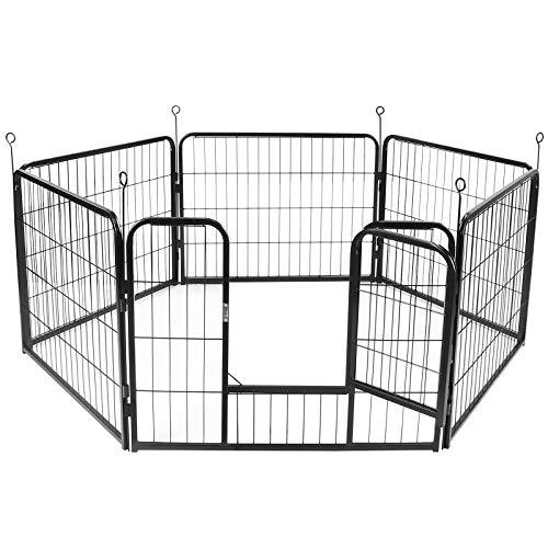 Display4top Welpenauslauf,Welpenlaufstall Freilaufgehege Hundelaufstall Tierlaufstall Hunde,mit Tür...