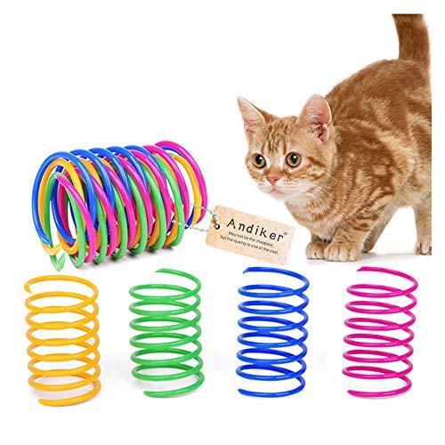 Andiker interaktives Spirale Katzenspielzeug, Buntes kreatives Spielzeug Langlebiges weiches Katzen...
