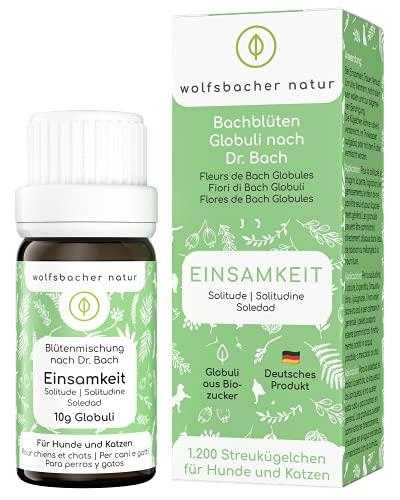 Wolfsbacher Natur Bachblüten Globuli - Einsamkeit - Für Hunde und Katzen die unter Einsamkeit, Verlust...