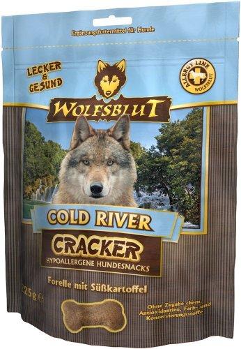 Wolfsblut | Cold River Cracker | 225 g | Forelle | Snack | Hundefutter | Getreidefrei