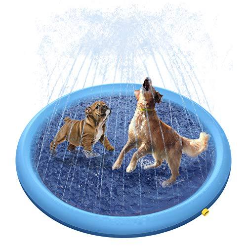 Peteast Hundepool für Große & Kleine Hunde, 150cm Sommer Outdoor Garten Hunde Wasserspielzeug,...