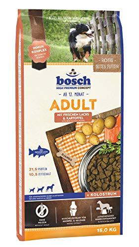 bosch HPC Adult mit frischem Lachs & Kartoffel   Hundetrockenfutter für ausgewachsene Hunde aller...