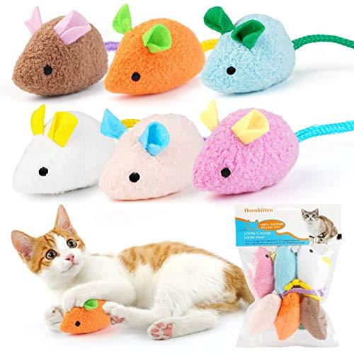 Dorakitten Katzenminzen Spielzeug,6pcs Katzen kauspielzeug,interaktiv katzenspielzeug fur Katze und...