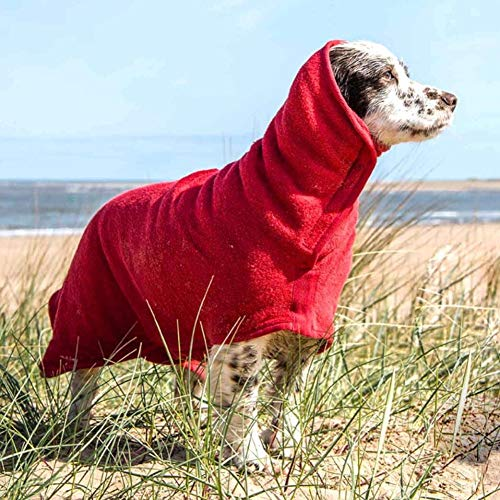 Badetuch Hund Bademantel, Hundebademantel aus Mikrofaser, Super absorbierend Handtuch, verstellbares...