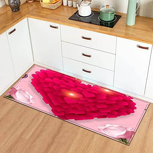 OPLJ Küchenmatte Home Printed Pattern Boden Teppich Schlafzimmer Dekoration Eingang Fußmatte Flur...