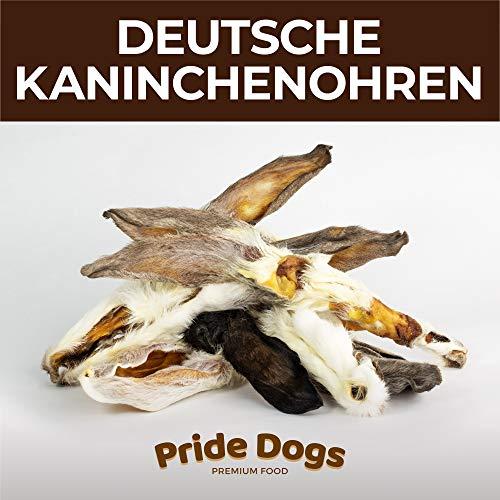 PrideDogs Kaninchenohren mit Fell 500g der Premium Kausnack für Ihren Hund | 100% Deutscher Herstellung...