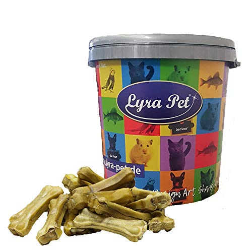 Lyra Pet® 100 Stück Kauknochen mit Ochsenziemerfüllung ca. 10 cm Kausnack Hund Hundefutter Kauartikel...