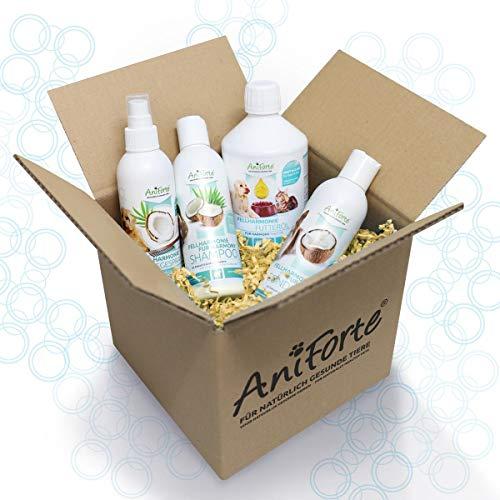 AniForte Fellharmonie Hundeshampoo mit Kokosöl & Aloe Vera 200ml – Pflegeshampoo für Hunde, Vitale...