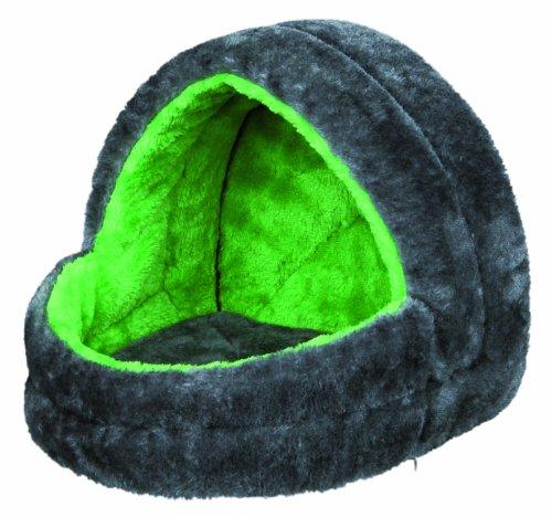 Trixie 6296 Kuschelhöhle für Kleintiere, 25 × 25 × 29 cm, grau/grün
