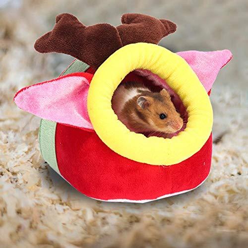 Hamster Meerschweinchenhaus, Winterbett, Fleece, warm, für kleine Tiere, Eichhörnchen, Igel,...