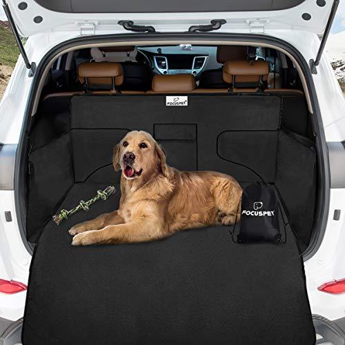 Focuspet Kofferraumschutz Hund, Hundedecke Auto mit Seitenschutz 185x105x45CM Kofferraumschutz...