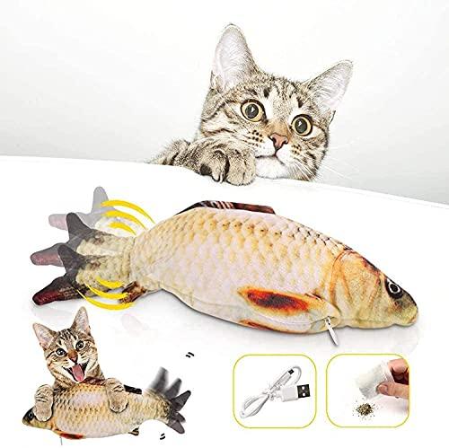 Katzenspielzeug Fisch Elektrisch, Zappelnder Fisch Katzenspielzeug Interaktiv Fisch Spielzeug FüR...