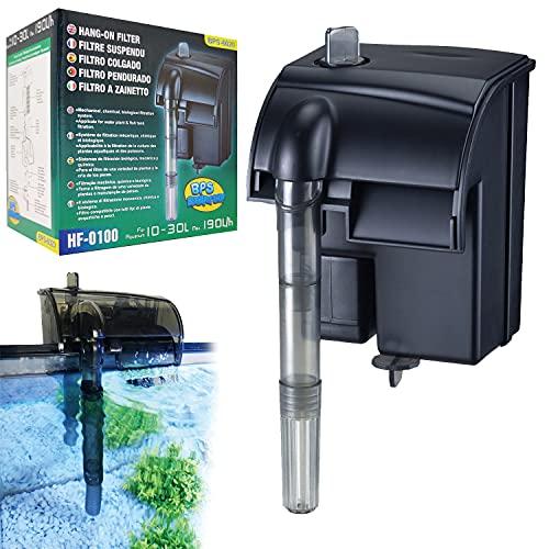 BPS (R) BPS-6020 Professioneller Rucksackfilter für Aquarium, 3 W, 190 L/Std., extern, energiesparend,...