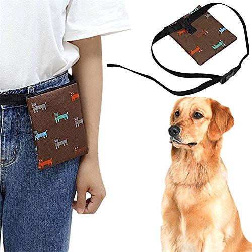 pzcvo Futterbeutel Hunde Futtertasche Hund Aufbewahrungsbehälter behandeln Hundefestlichkeits-Taschen...