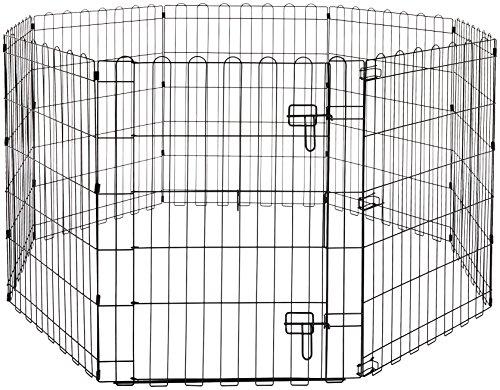 Amazon Basics – Faltbares Metall-Gehege, für Haustier, Hund, Trainingszaun, 152,4 x 152,4 x 76,2 cm