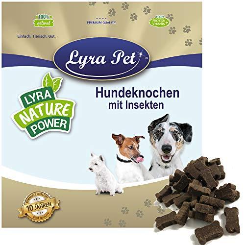 Lyra Pet® 3 kg Hundeknochen mit Insekten Kausnack Leckerli Belohnung Hundefutter Kauartikel Hund