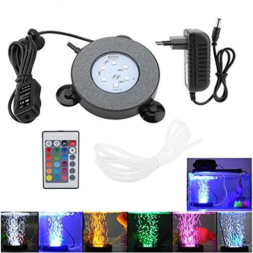 Pssopp LED Lighting Aquarium Licht 3,5W Aquarium Bubble Light Aquarium LED Beleuchtung 16 monochrom + 4...