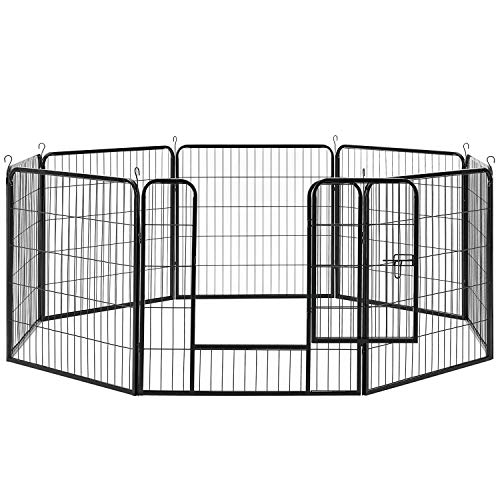 Sam´s Pet Metall Welpenauslauf | verriegelbare Tür | 80 cm | Tierlaufstall für Hunde, Katzen &...
