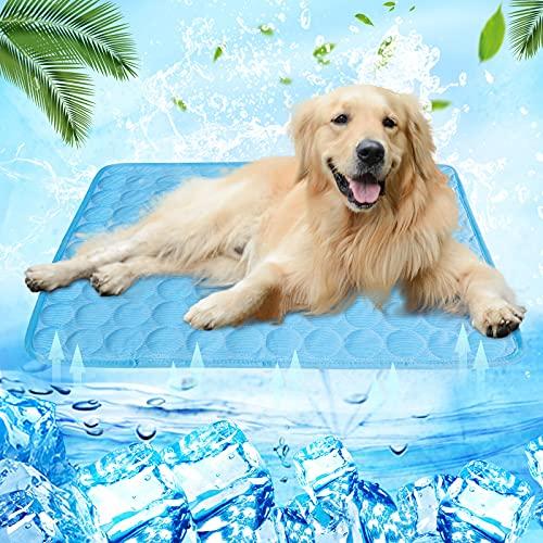 wenyujh Hundekühlmatte Katzekühlmatte abkühlen unterlage Hund rutschfest Sommer Atmungsaktiv...