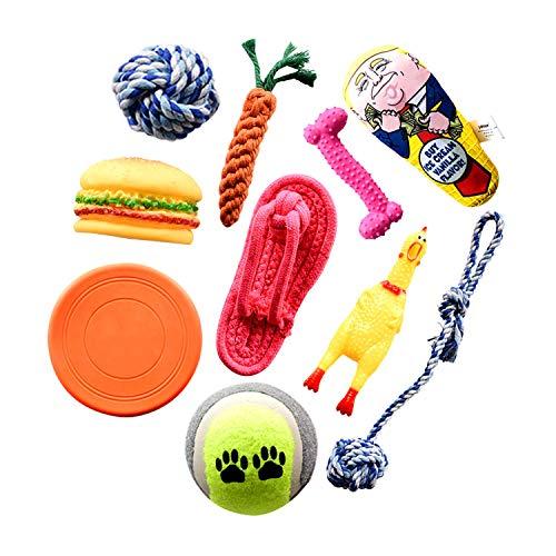 Bestdon Welpenspielzeug Set,Hundespielzeug Welpen Hunde Kauspielzeug,Baumwollknoten und Seil Interaktives...