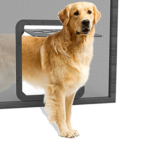 NAMSAN Haustierklappe Hundeklappe Katzenklapp für Fliegengitter mit Magnet Geschlossen Einfach zu...