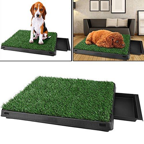 Befied Hundetoilette Welpentoilette mit Kunstrasen, Trainingsunterlage Indoor für Hunde Tier WC, 63x 50x...