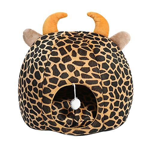 CPALNQMCU Katzenhöhle waschbare Premium Kuschelhöhle für Katzen   inklusiv extra gemütlichem Matte