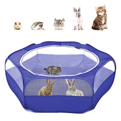 Pawaboo Kleintiere Freigehege, Wasserdicht Faltbar Kaninchen Freilaufgehege für Hasen Hühner Kätzchen...