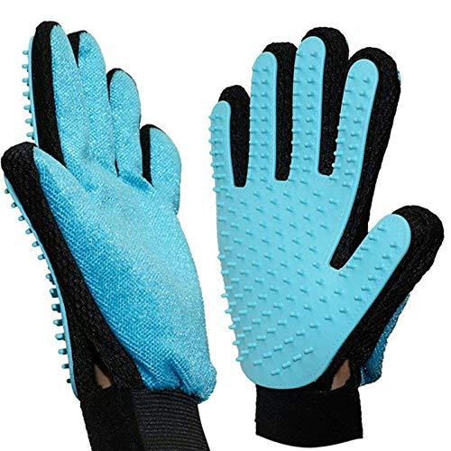 Haustier Grooming Handschuh,2 in 1 Pet Pflegen Handschuhe and Möbel Haustier Haarentferner Mitt Gentle...