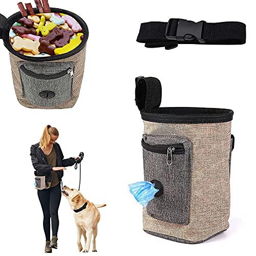 Futterbeutel für Hunde,Hundetraining Treat Pouch,Leckerlibeutel fur Hunde,Tragbare Dog Snack Tasche...
