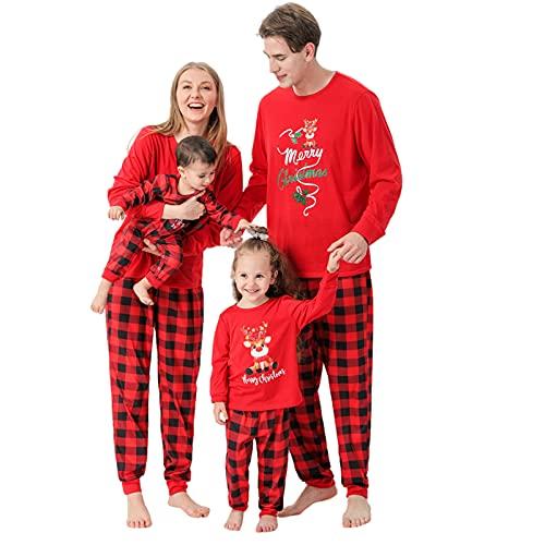 Weihnachten Pyjamas Set Chrismas Hirsch Weihnachtsanzug Drucken Nachtwäsche Baby Strampler...