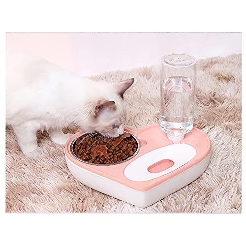 Desconocido Automatischer Futterautomat für Haustiere mit Wasserspender und Futter in Herzform für...