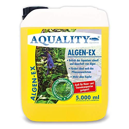 AQUALITY Aquarium Algen-EX (Erstklassiger Algenvernichter, Algenmittel, Algenentferner, Algenstopp -...