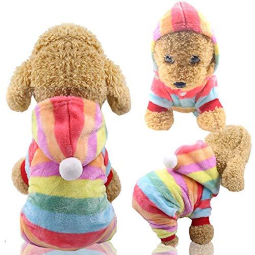 ZSWQ Kleidung Für Haustiere Hund Hoodie Hundebekleidung Winter Kleine Hunde Pullover Haustier Katze...