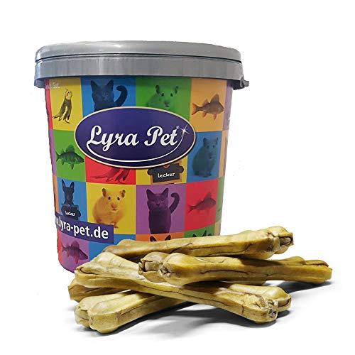 Lyra Pet® 10 Stück Kauknochen 30 cm Rinderhaut Hundefutter Kauartikel Rohleder gepresst Leckerli Snack...
