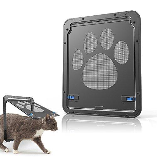 Namsan Katzenklappe Fliegengitter Hundeklappen Haustierklappe für Kleine Hunde Katzen Installieren...