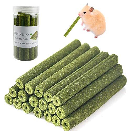 Timothy Heu Sticks Kaninchen Spielzeug für Kaninchen, Meerschweinchen, Hamster, Chinchilla, Häschen,...