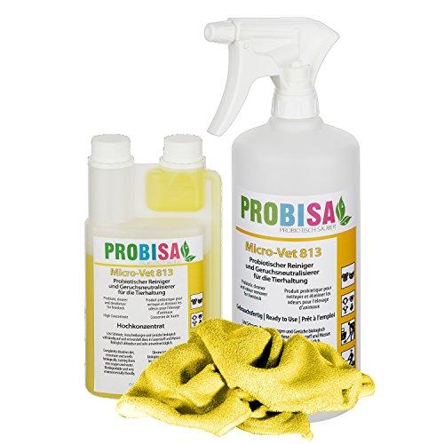Geruchsneutralisierer Spray gegen Gerüche von Katzen-Urin, Hund, Nager und Haustiere (Set - Konzentrat...