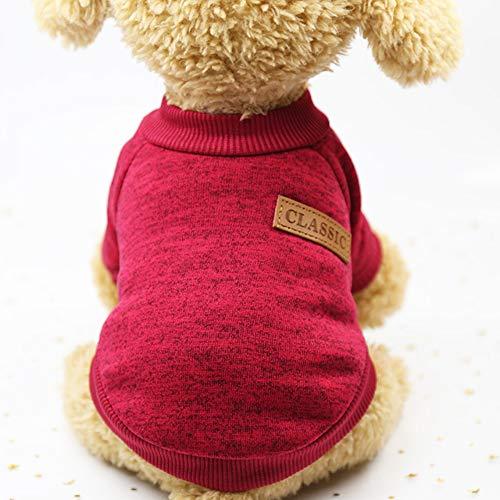 Smoro Haustier Hund Katze Pullover, warme Hunde Pullover Katze Kleidung, Fleece Haustier Mantel für...