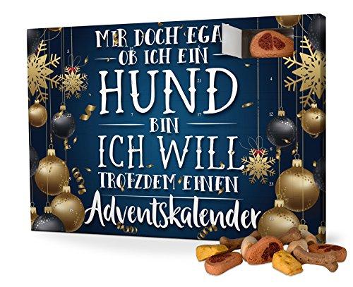 printplanet Hunde-Adventskalender mit Leckerlis - Motiv Mir doch egal - Weihnachtskalender für Hunde -...