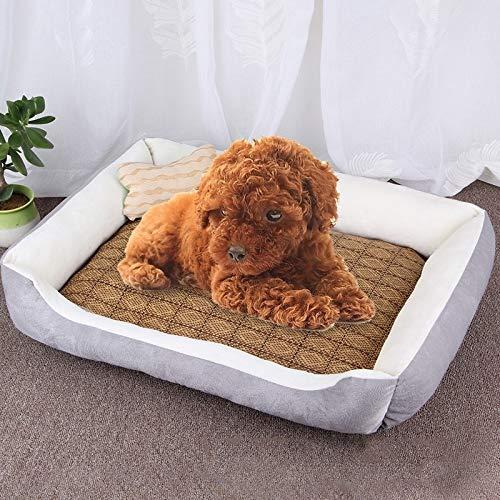 Qiuge Haustierhund & Katzenbett weiche warme Winter-gemütliche komfortable Memory-Foam-Haustierbett,...