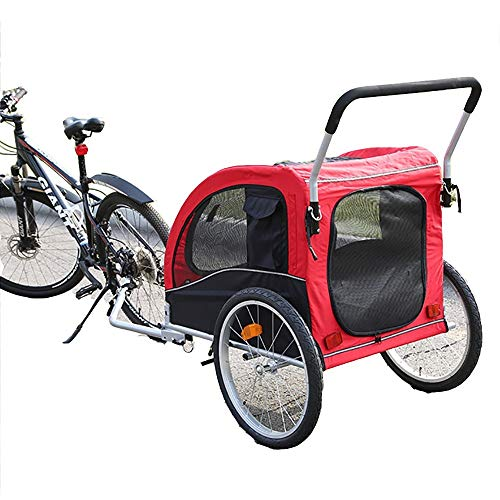 Hundeanhänger Fahrradanhänger Für Kleine Und Große Hunde, Klapprahmenträger, Schnellspanner,...