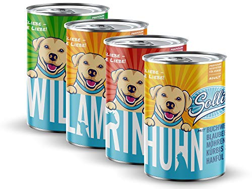 Sollis Hundefutter Nassfutter 6er-Pack | 0% Getreide | 0% Zucker | Natur pur in verschiedenen Sorten &...