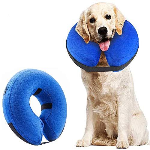 Supet Halskrause Hund Schützender Aufblasbarer Hundekragen Schutzkragen Krägen für Haustiere...